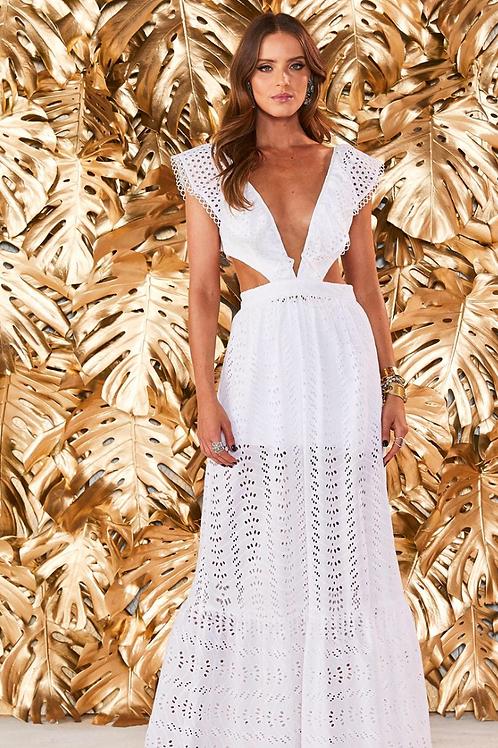 Vestido longo lesie branco Fabulous Agilita