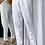Thumbnail: Calça detalhe pregas alfaiataria off white Skazi