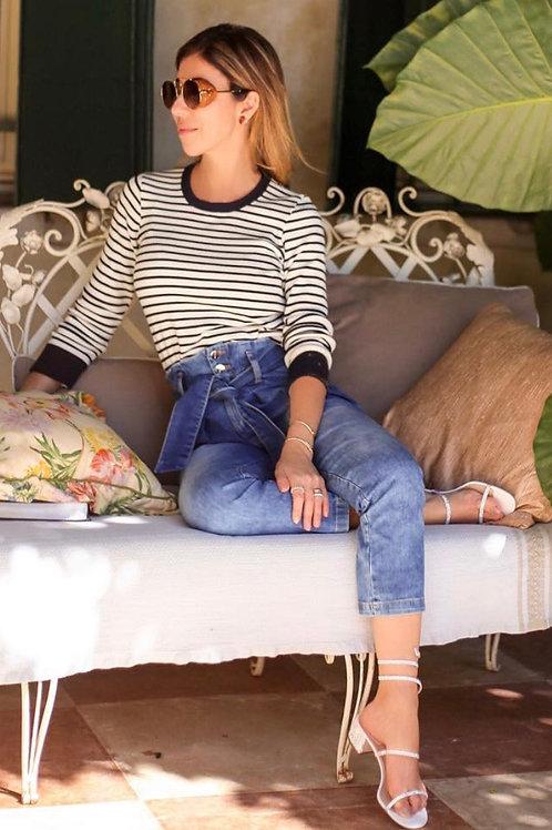 Calça jeans clochard Wyoming Carol Bassi