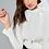 Thumbnail: Blusa tricot detalhe laço off white Skazi Sclub