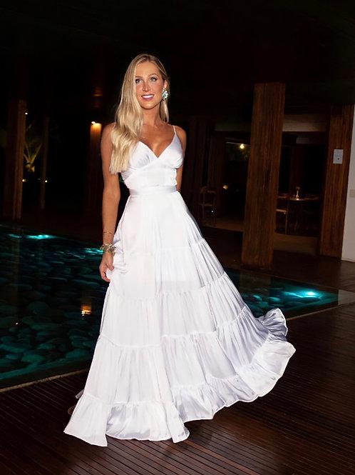 Vestido longo Vitoria branco Fabulous Agilita