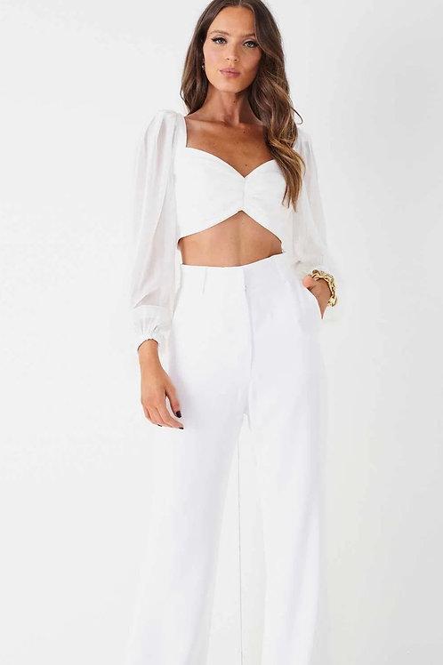 Calça alfaiataria Camila branco Fabulous Agilita