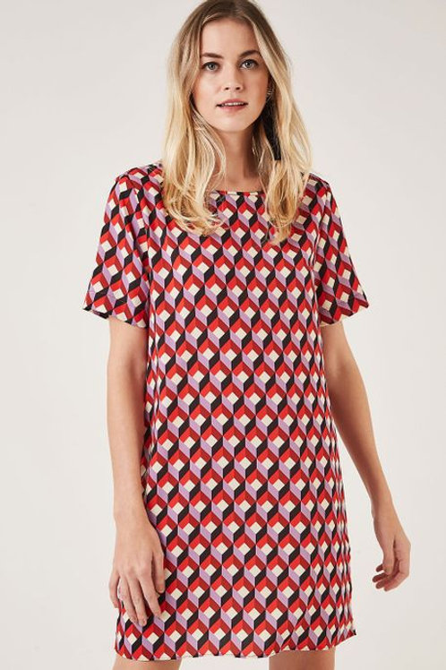 Vestido Tshirt Dress Geo Gravete Animale