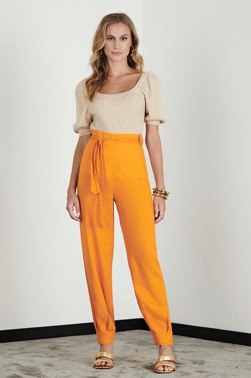 Calça jogger linho laranja  - Iorane