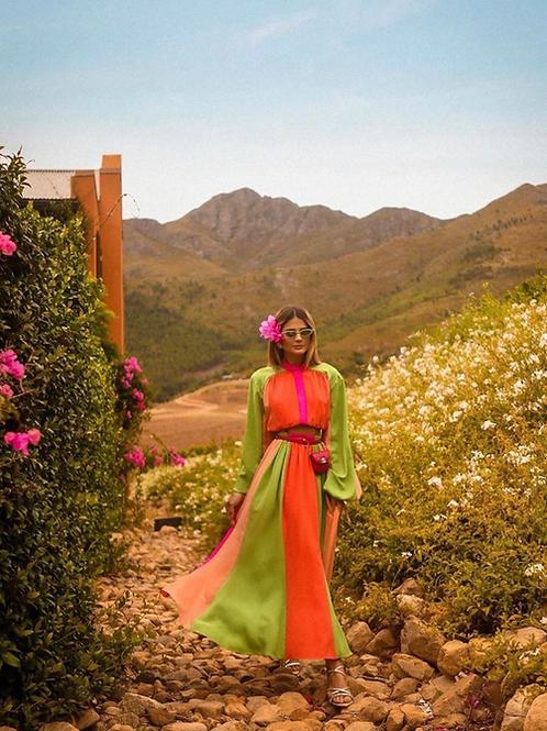 Conjunto multicolor saia e blusa Skazi Thassia Naves