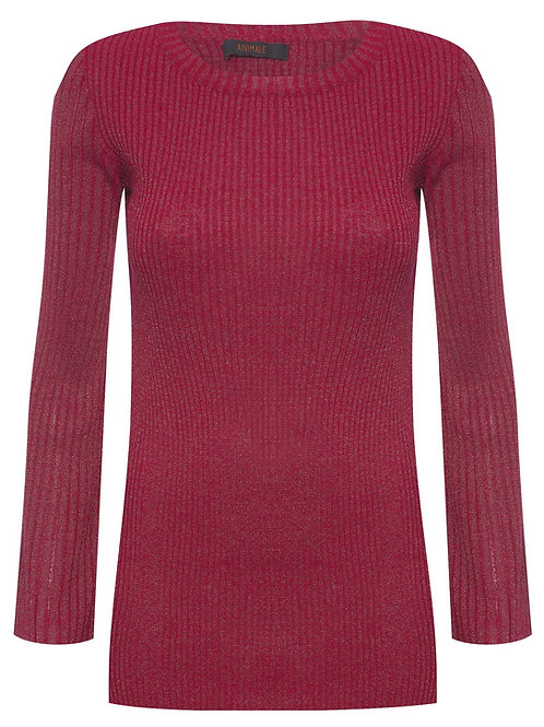 Blusa Animale Tricot - Vermelho