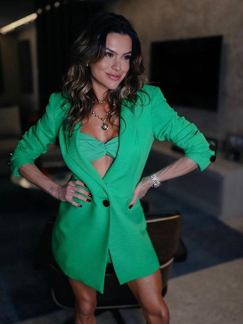 Blazer/vestido verde Skazi Juju Norremose