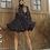 Thumbnail: Vestido curto mix poa Thassia Naves Skazi