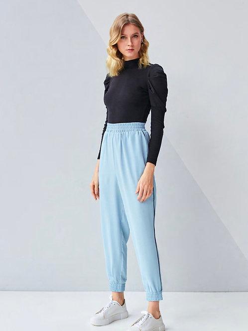 Conjunto azul claro calça jogger e blusa tricot Skazi Sclub