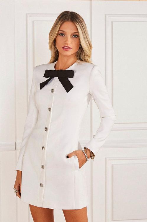 Vestido curto Maria Valentina off white Fabulous Agilita