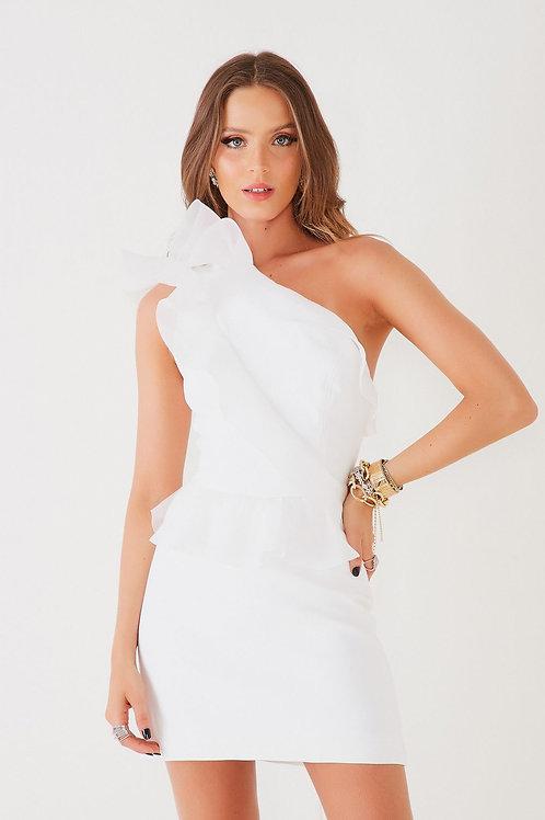 Vestido curto Gabriele branca Fabulous Agilita