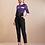 Thumbnail: Calça alfaiataria preta cintura alta Skazi