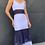 Thumbnail: Vestido longo lasie bicolor Skazi