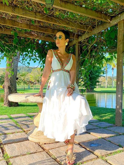 Vestido mídi decote Skazi Sclub Silvia Braz
