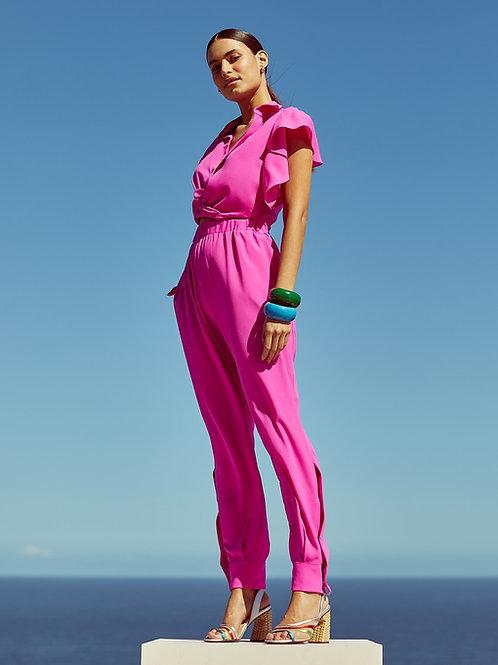 Conjunto blusa e saia pink Skazi Sclub