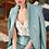 Thumbnail: Conjunto Anne Fernandes couro fake - azul