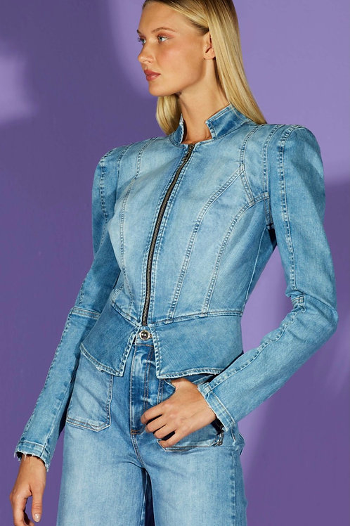 Jaqueta jeans acinturada - TD Tufi Duek