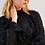 Thumbnail: Blusa detalhe babados pelinhos preto Sclub Skazi
