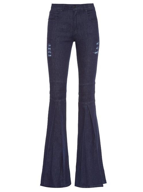 Calça Marlyn Monroe Jeans Escuro Carol Bassi