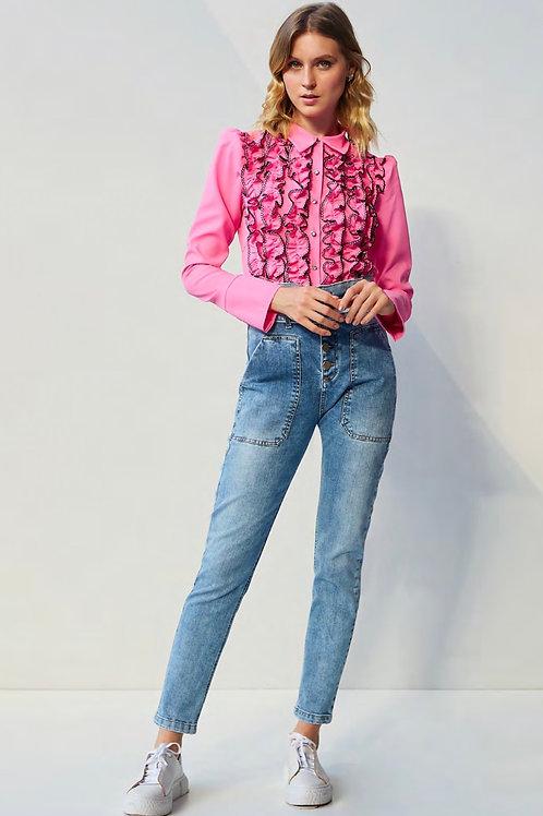 Camisa babadinhos pink Skazi Sclub