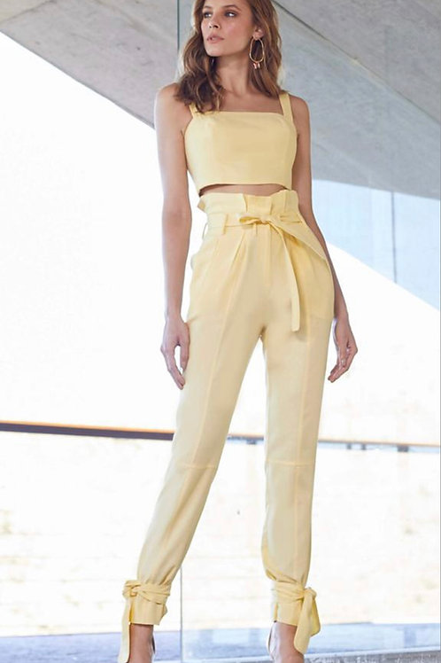 Conjunto de calça e top amarelo Skazi Sclub