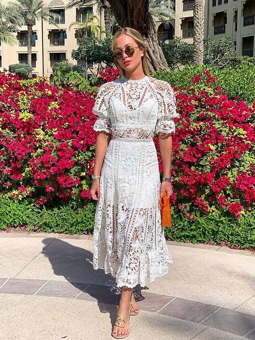 Vestido midi Viviane Fabulous Agilita off white