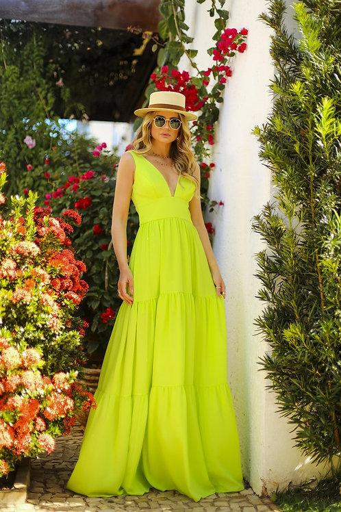 Vestido longo lima Skazi Thassia Naves