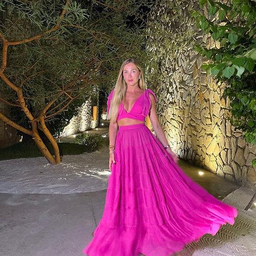 Conjunto saia e top Thassia Tabatha pink Fabulous Agilita