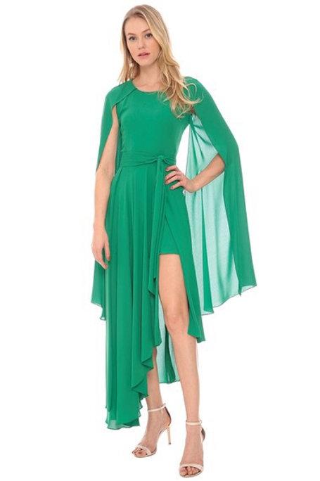 Vestido crepe assimétrico Amíssima