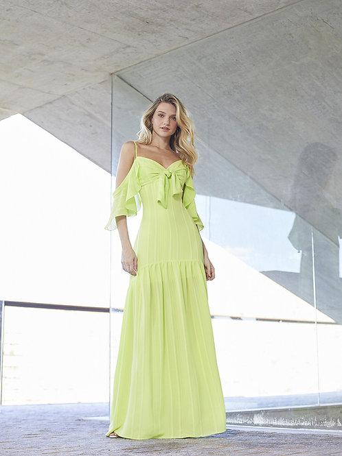 Vestido longo laço verde limão Skazi