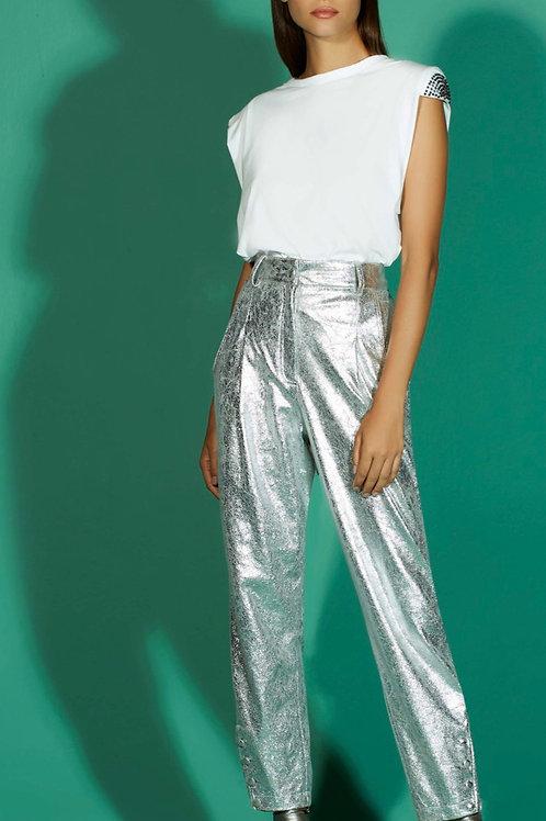 Calça alfaiataria prata - TD Tufi Duek
