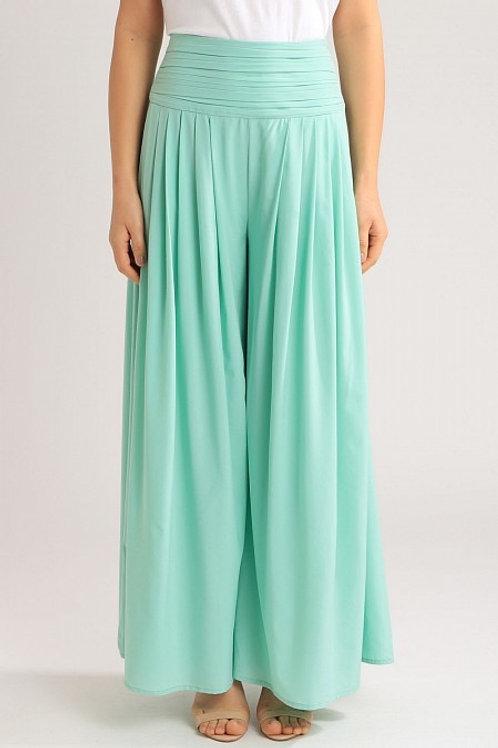 Calça pantalona verde água PatBo
