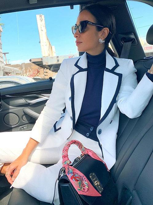 Conjunto blazer + top + calça Skazi