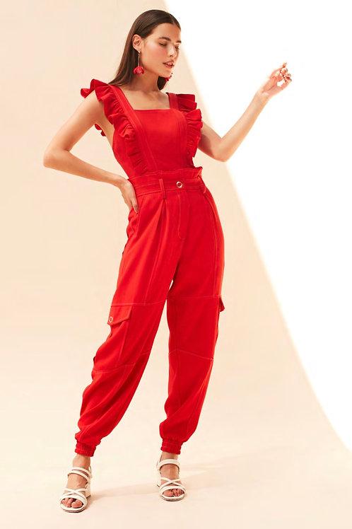 Conjunto blusa e calça presponto vermelho Skazi Sclub