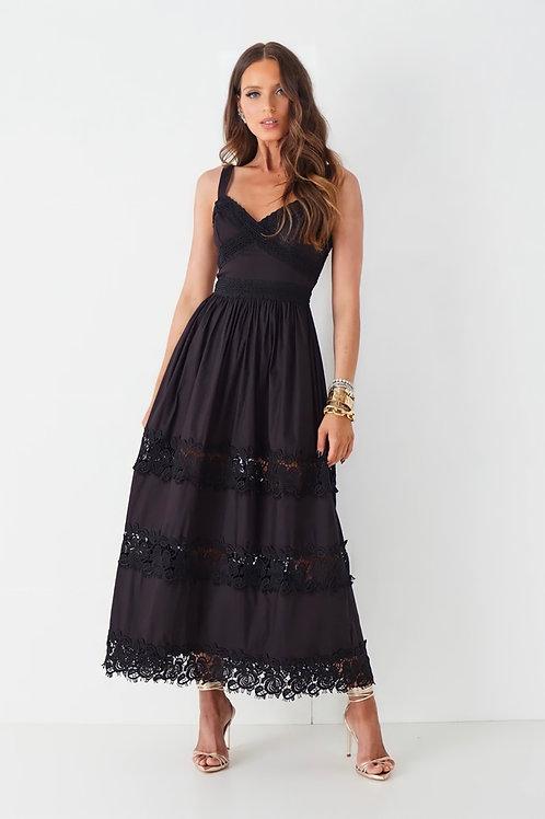 Vestido longuete Izabel preto Fabulous Agilita