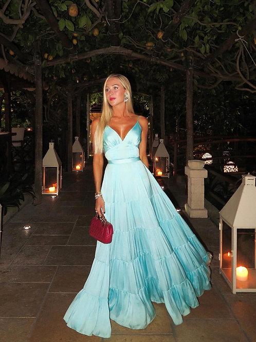 Vestido longo Vitoria azul claro Maldivas Fabulous Agilità
