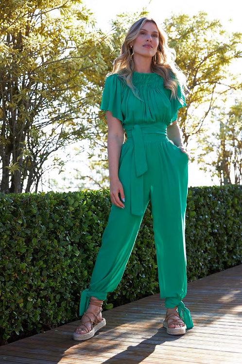 Conjunto blusa e calça detalhe drapeado Skazi Sclub
