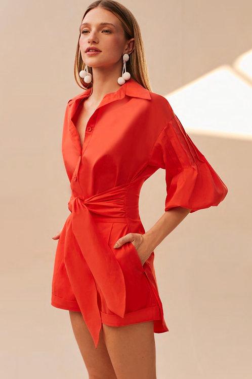 Conjunto blusa e short laranja Skazi Sclub