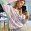 Thumbnail: Conjunto de calça e blusa em moletom tie dye cotton candy rainbow TIG