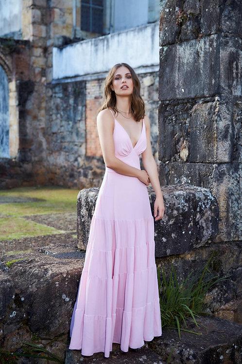 Vestido longo rosa - Anne Fernandes
