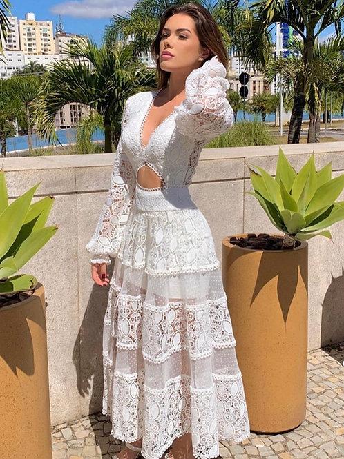 Vestido mídi Maria Angelica Fabulous Agilita