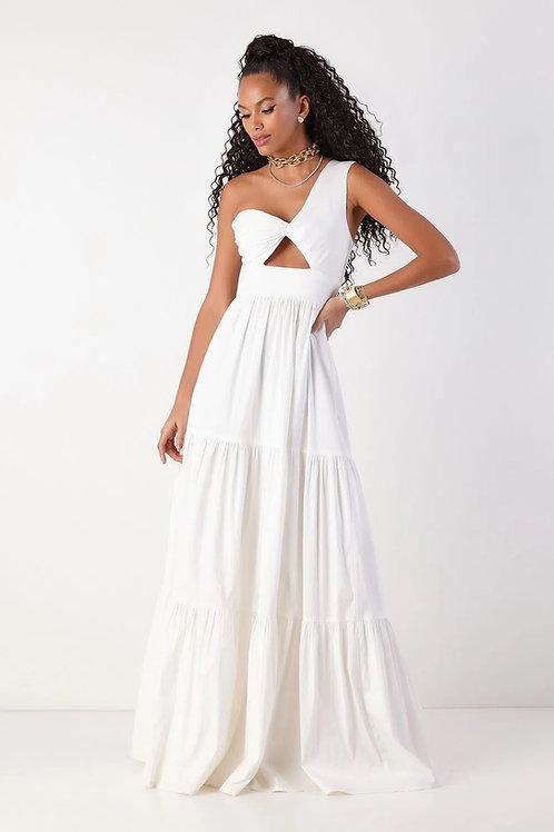 Vestido longo Adriana off white Fabulous Agilita