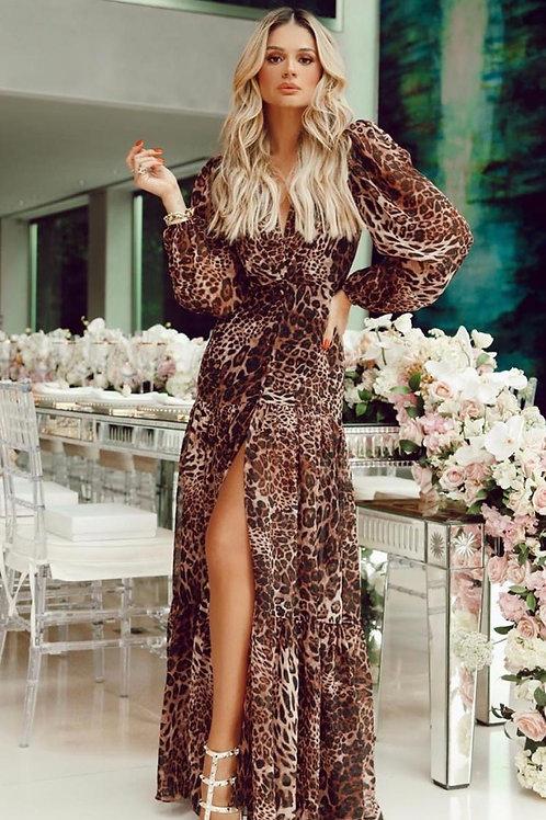 Vestido longo onça Fabulous Agilita Thassia Naves