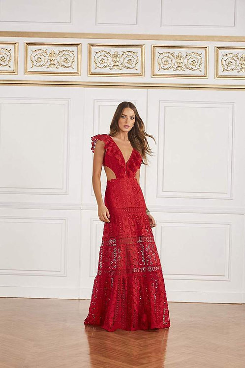 Vestido longo Maria Fernanda vermelho Fabulous Agilità