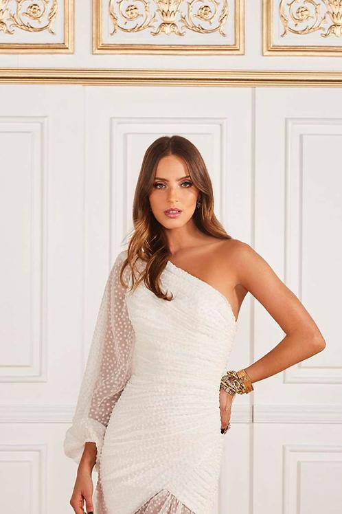 Vestido curto Karla off white Fabulous Agilità