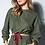 Thumbnail: Conjunto blusa e calça moletom verde militar Skazi