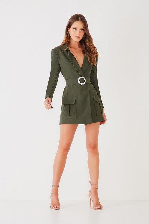 Vestido curto Sabrina Fabulous Agilità verde militar