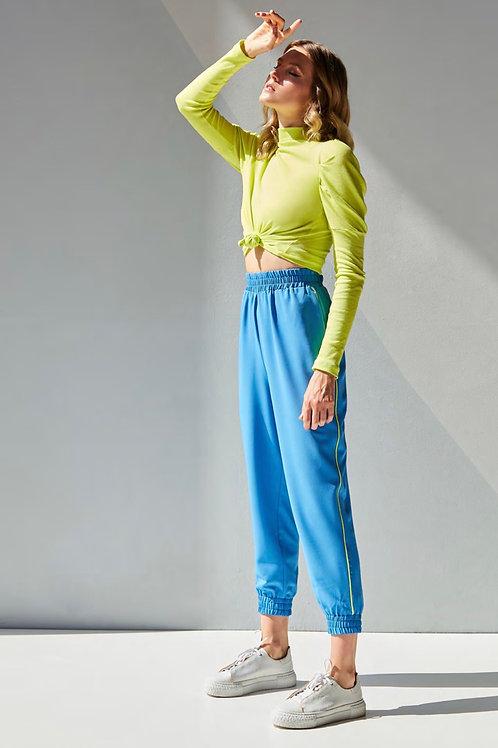 Conjunto azul calça jogger e blusa tricot Skazi Sclub