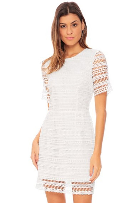 Vestido renda princess Amíssima branco