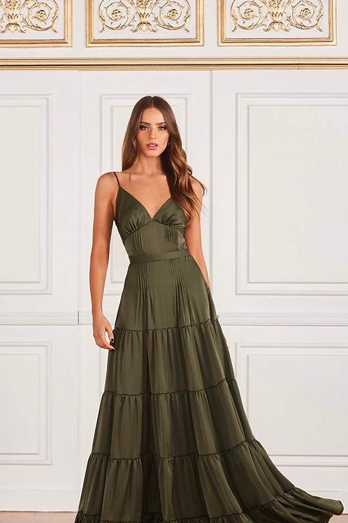 Vestido longo vitória verde Fabulous Agilita